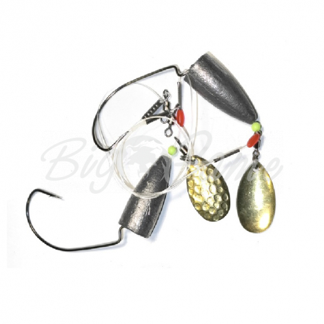 Оснастка ZETTECH Вездеход,пуля 18 г 20 см, лепесток-латунь (2 шт.) фото 1