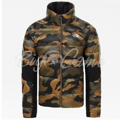Куртка THE NORTH FACE Men's Crimptastic Hybrid Down Jacket цвет Burnt Olive Green Waxed Camo фото 1