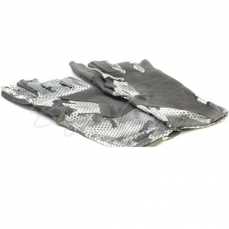 Перчатки SIMMS Solarflex Guide Glove цвет Hex Flo Camo Steel фото 6