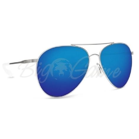 Очки COSTA DEL MAR Piper 580 GLS р. M цв. Velvet Silver Frame цв. ст. Blue Mirror фото 1