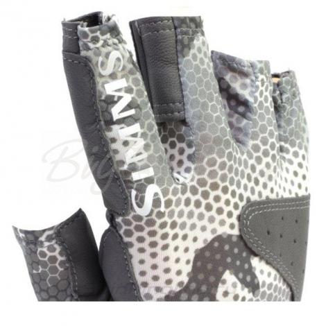 Перчатки SIMMS Solarflex Guide Glove цвет Hex Flo Camo Steel фото 7