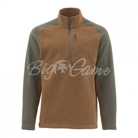 Пуловер SIMMS Rivershed Sweater Quarter Zip цвет Saddle Brown 11900-904-20 фото 1