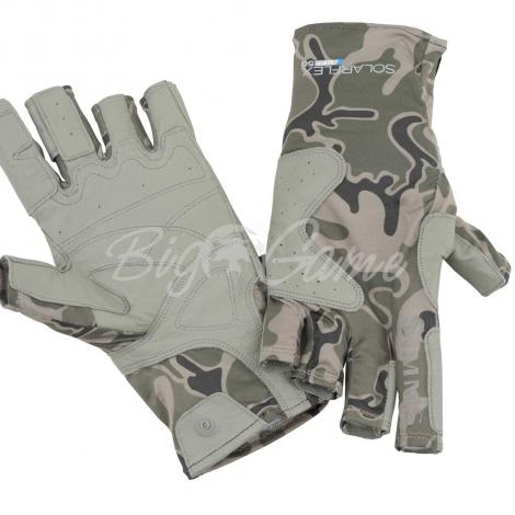 Перчатки SIMMS Solarflex Guide Glove цвет Tongass Camo Tumbleweed фото 1