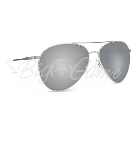 Очки COSTA DEL MAR Piper 580 GLS р. M цв. Velvet Silver Frame цв. ст. Gray Silver Mirror фото 1