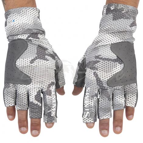 Перчатки SIMMS Solarflex Guide Glove цв. Hex Flo Camo Steel фото 2
