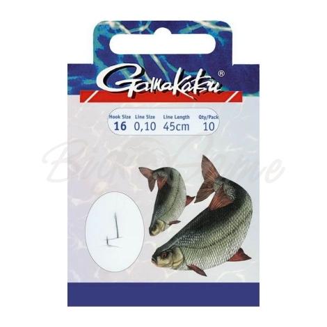 Крючок с поводком GAMAKATSU 1050N ROACH/ROTAUGE (10 шт.) № 10 140113-01000-00016 фото 1