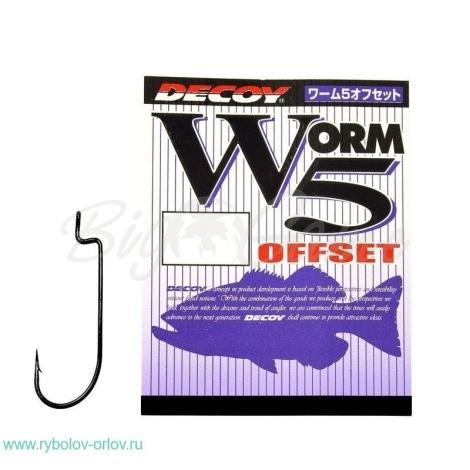 Крючок офсетный DECOY Worm 5 Offset № 2 (9 шт.) фото 1