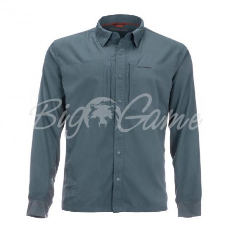 Рубашка SIMMS Bugstopper Intruder BiComp LS Shirt '21 цвет Storm фото 1