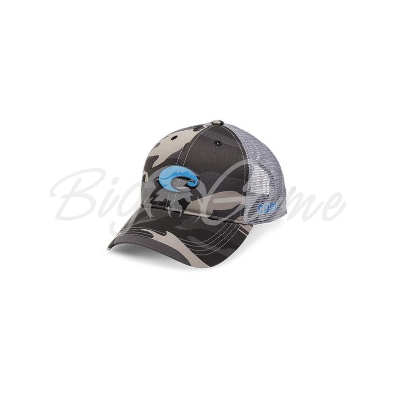 4ec1c4d5dd8 Купить бейсболку COSTA DEL MAR XL Logo Camo Trucker цв. Black COS-HA ...