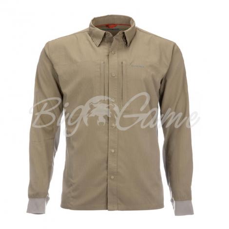 Рубашка SIMMS Bugstopper Intruder BiComp LS Shirt '21 цвет Tan фото 1