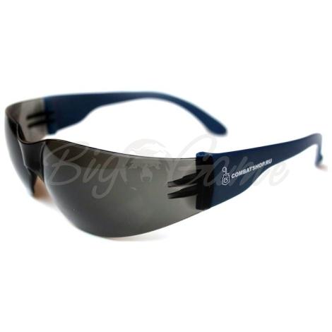 Очки защитные COMBATSHOP Basic+ с дымчатой линзой фото 1