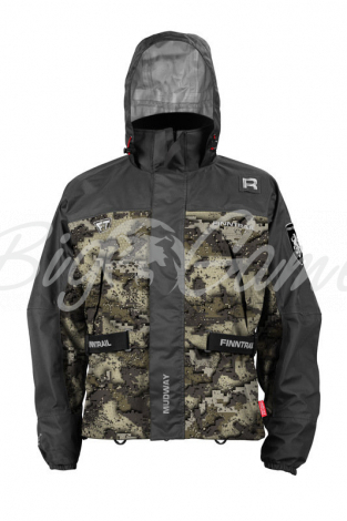 Куртка FINNTRAIL Mudway 2000 цвет Камуфляж / Серый фото 1