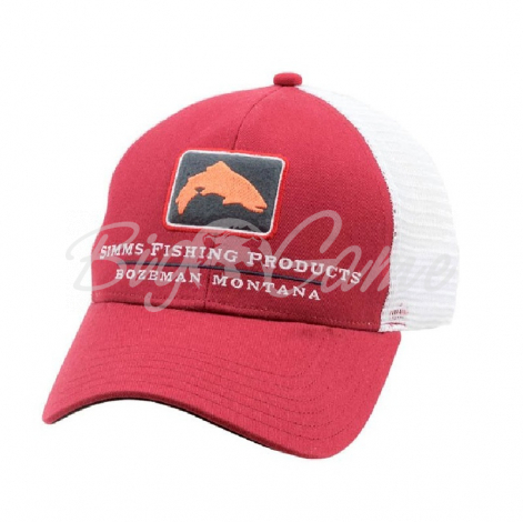 Кепка SIMMS Trout Icon Trucker цв. Rusty Red фото 1