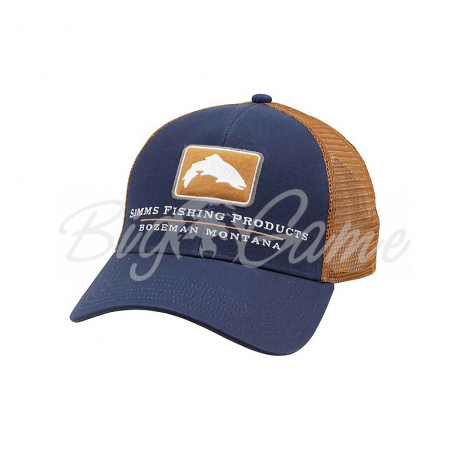 Кепка SIMMS Trout Icon Trucker цв. Admiral Blue фото 1