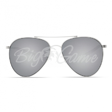 Очки COSTA DEL MAR Piper 580 GLS р. M цв. Velvet Silver Frame цв. ст. Gray Silver Mirror фото 3