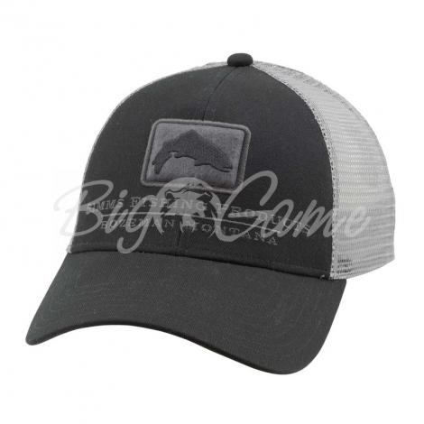 Кепка SIMMS Trout Icon Trucker цв. Black фото 1