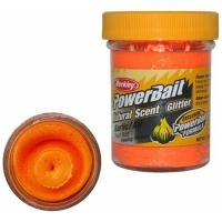 Паста BERKLEY PowerBait Natural Scent Glitter TroutBait аттр. Чеснок цв. Флюоресцентный оранжевый