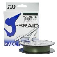 Плетенка DAIWA J-Braid X4 135 м цв. зеленый 0,07 мм