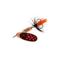 copper red dots / black orange tai