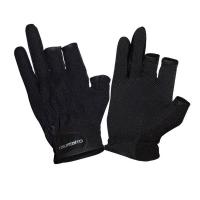 Перчатки рыболовные TSURIBITO SFG-8016, цвет черный (3 открытых пальца)