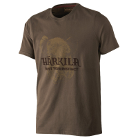 Футболка HARKILA Odin Wild Boar T-shirt цвет Demitasse Brown