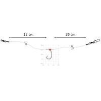 Оснастка спиннинговая DIXXON Drop Shot (40 см, кр. № 4, тест 9 кг)