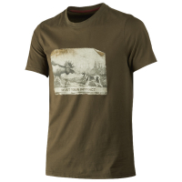Футболка HARKILA Odin Moose & Dog T-shirt цвет Willow green