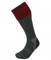 Носки LORPEN HWS Hunting Wader Sock цвет Хвойный / Бордовый