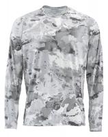 Термофутболка SIMMS Solarflex LS Crewneck - Print цвет Cloud Camo Grey