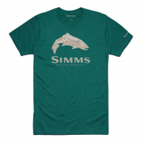 Футболка SIMMS Fire Hole Trout T-Shirt цвет Dark Teal Heather