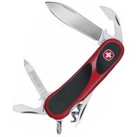 Нож VICTORINOX Evolution 10 85мм 13 функций цв. красный / черный