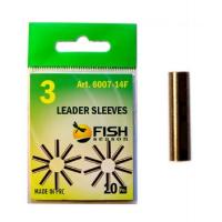 Трубка обжимная FISH SEASON Leader Sleeves 1 мм № 1,5 (20 шт.)