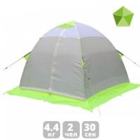 Палатка ЛОТОС-ТЕНТ Lotos 2 двухместная цвет Серый / Салатовый