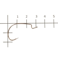 Крючок офсетный VARIVAS Hooking Master Versatile Finess № 1 (8 шт.)