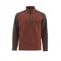 Пуловер SIMMS Rivershed Sweater Quarter Zip цвет Rusty Red