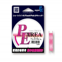 Плетенка YAMATOYO PE Area Trout 75 м цв. Розовый № 0,4