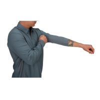 Рубашка SIMMS Bugstopper Intruder BiComp LS Shirt '21 цвет Storm превью 2