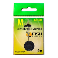 Стопор резиновый FISH SEASON 5003 Olive Rubber Stopper Оливка р.L (9 шт.)