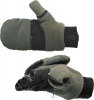 Варежки-перчатки NORFIN отстегивающиеся цвет оливковый/ черный