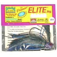 Бактейл STRIKE KING Premier Elite Jig 10,5 г (3/8 oz) цв. black / blue /purple flash