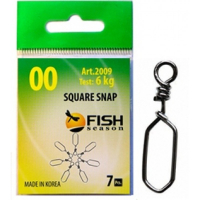 Застежка FISH SEASON Square Snap № 3 (6 шт.)