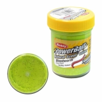 Паста BERKLEY PowerBait Natural Scent Glitter TroutBait аттр. мотыль цв. шартрез