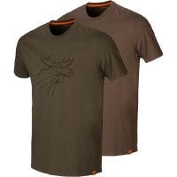 Футболка HARKILA Graphic T-Shirt (2 шт.) цвет Willow green / Slate brown