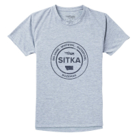 Футболка SITKA WS Seal Tee Ss цвет Heather Grey