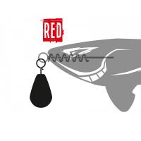 Грузило XBAITS X Sinker Red 10 г (3 шт.)