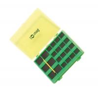Коробка для крючков SENSAS Magnetic Box GM 43 ячейки цвет жёлтый/ зелёный