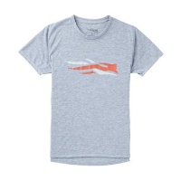 Футболка SITKA Logo Tee Ss цвет Heather Grey