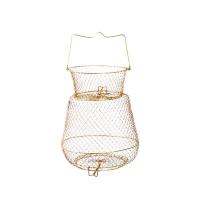 Садок РАСПРОДАЖА из металлической сетки, круглый 14х25х30 см
