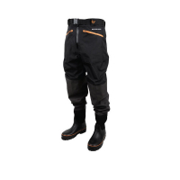 Вейдерсы SAVAGE GEAR Breathable Waist Wader Boot Foot Cleated цвет черный