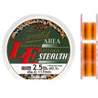 Леска SUNLINE Troutist Area LE Stealth 100 м цв. ярко-оранжевый / прозрачный 0,09 мм